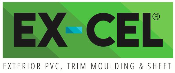 ex-cel logo pvc trim moulding and sheet sold by sherwood lumber