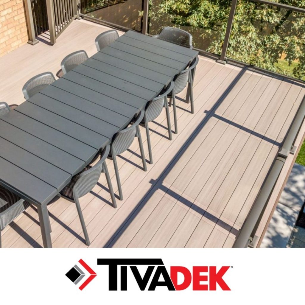 Decking project using Tiva Decking Products sold by Sherwood Lumber